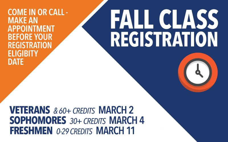 Fall registration begins March 2. Call to make an appointment at 435-283-7313